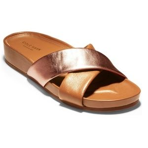 NWT Cole Haan Arielle Metallic/Leather Sandals